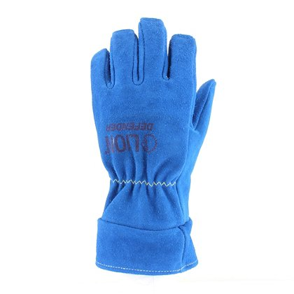 Lion: Blue Defender Leather Structural Firefighting Glove, NFPA