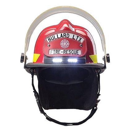 Bullard: Firedome LTX Helmet with TrakLite Integrated Helmet Light, NFPA 1971