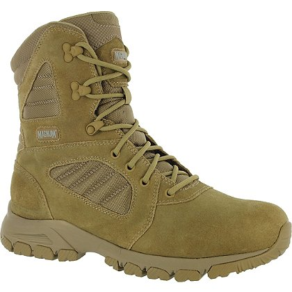 "Magnum Response III 8.0 8"" Men's Tactical Boots, Desert Tan, Side Zip"