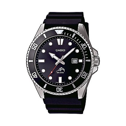 Casio Analog Dive Watch Sweep Second Black