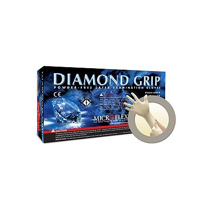 Microflex Diamond Grip Natural Latex Glove
