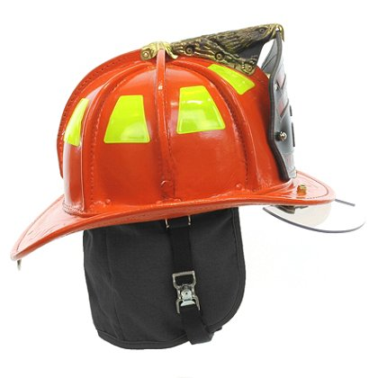 Cairns N5A New Yorker Orange Leather Helmet, OSHA