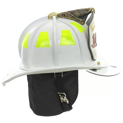 Cairns: N5A New Yorker White Leather Helmet, OSHA