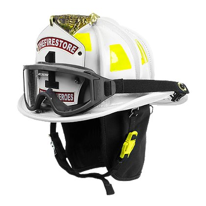 Cairns: N6A Houston White Leather Helmet