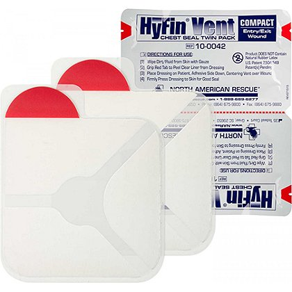 N. A. Rescue: Twin Pack of Hyfin Vent Compact Chest Seals