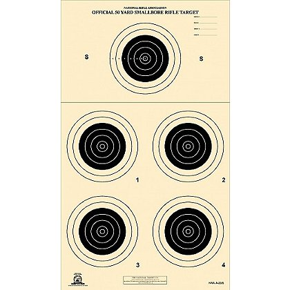 National Target NRA Official 50-Yard Small Bore Rifle Targets