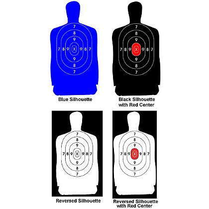 National Target  Law Enforcement Silhouette, 50 yard, 24