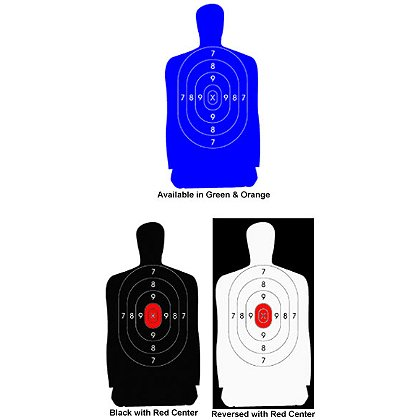 National Target Law Enforcement Silhouette, 50 Foot, 11.5