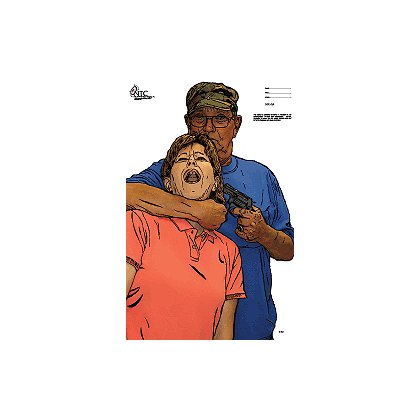 National Target: Man with Gun and Hostage, Full-Color, Life-Size Target
