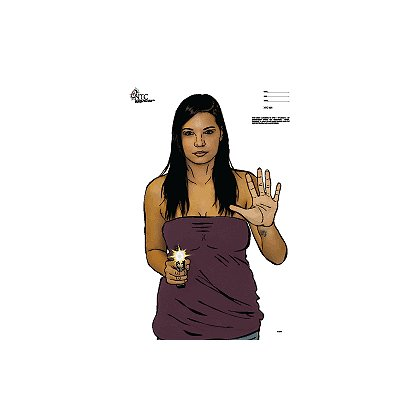 National Target Woman with gun, Full-color Life-size Target