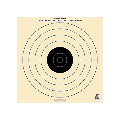 National Target High Power Rifle Target, 100 Yard Military Type, 6 3/8