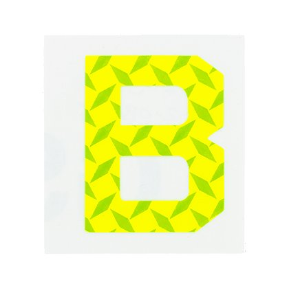 Oralite Brilliance Fluorescent Lime/Yellow Letter Decals, 2