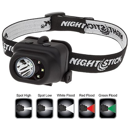NightStick: Multi Function Headlamp with Colored Floodlights, 150 Lumens