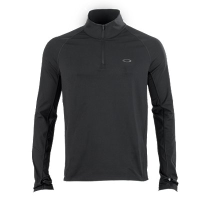 Oakley: Warm Zone 1/4 Zip Long Sleeve Training Shirt, Blackout
