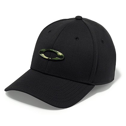 Oakley: Tincan Cap, Black with Graphic Camo Logo