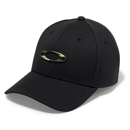 Oakley Tincan Cap, Black with Graphic Camo Logo