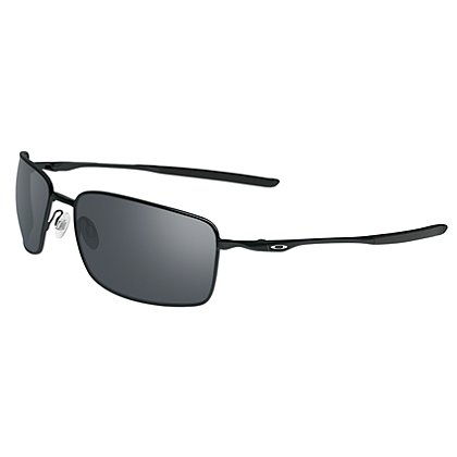 Oakley Square Wire Sunglasses, Polished Black Frame w/Black Iridium Lenses