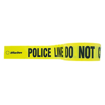 OfficerStore: Barricade Tape, 3 in. x 1000 ft., 3 Mil. Thick