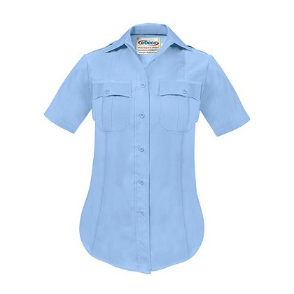 ELBECO: Paragon Plus Women's Premium Poplin Dress Uniform Shirt, Short Sleeve