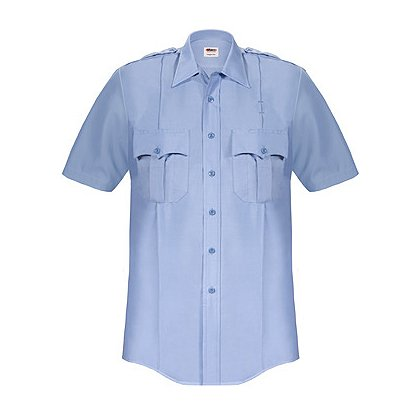 ELBECO: Paragon Plus Men's Premium Poplin Dress Uniform Shirt, Short Sleeve