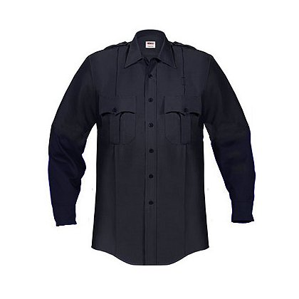 ELBECO: Paragon Plus Men's Premium Poplin Dress Uniform Shirt, Long Sleeve