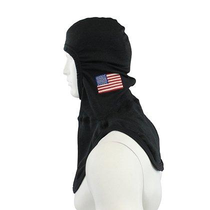 Majestic PAC II PBI Black Hood, w/  Flag, NFPA 1971-2013