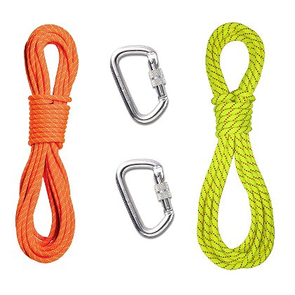 Sterling Rope 200' 8MM Personal Escape Rope & 2 Carabiners (OP12A36LNFPA)