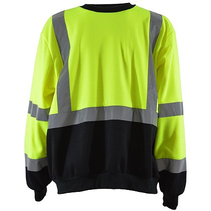 Petra Roc: Hi-Viz Lime/Black Crew Neck Sweatshirt