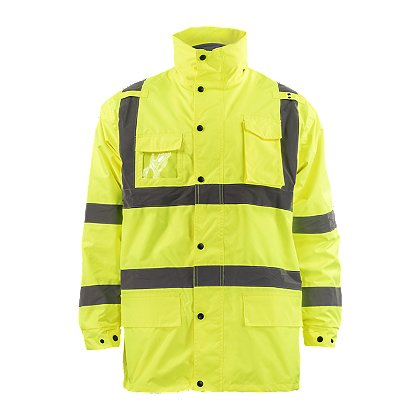 Petra Roc: Lime 3-In-1 Wind & Rain Parka Jacket with Removable Liner, ANSI/ISEA 107-2010 Class 3