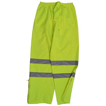 Petra Roc: Hi-Viz Lime Water and Wind Proof Drawstring Pants
