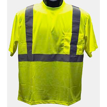 Petra Roc: Lime Mesh Short-Sleeve T-Shirt ANSI/ISEA 107-2010 Class 2