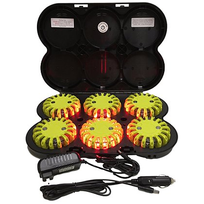 PowerFlare 6 Pack Rechargeable System, 12V/120 Charging Options