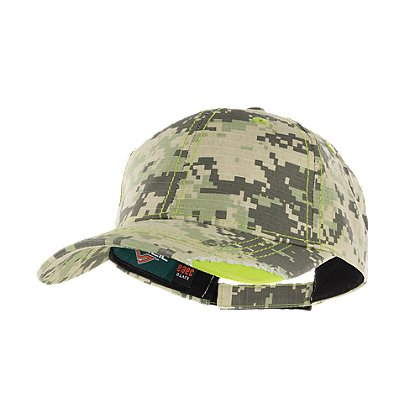 Pacific Headwear: Distressed Camo Cap with Velcro Strap