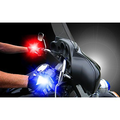Brite-Strike: Law Enforcement Reflective Cycle Gloves with Active Illumination LED's, ¾ Fingerless
