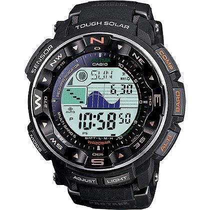 Casio Pro-Tek Solar Power Watch, Digital, Altimeter/Barometer, Tide/Moon, Black
