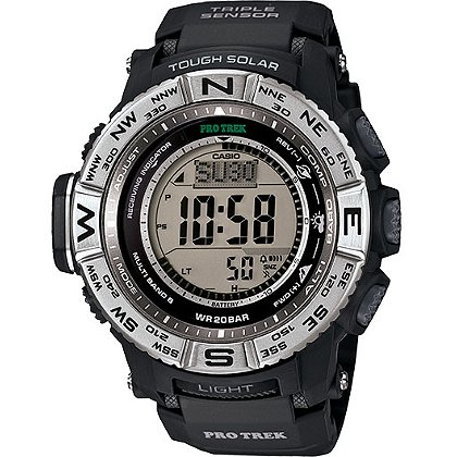 Casio: Pro Trek Triple Sensor Digital Watch Solar Powered