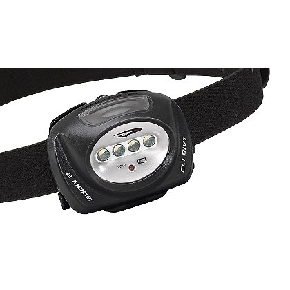 Princeton Tec: QUAD II, Class 1 Div.1 Intrinsically Safe, LED Headlamp, 3 AAA or Lithium Batteries, 78 Lumens, Rubber and Nylon Head Strap