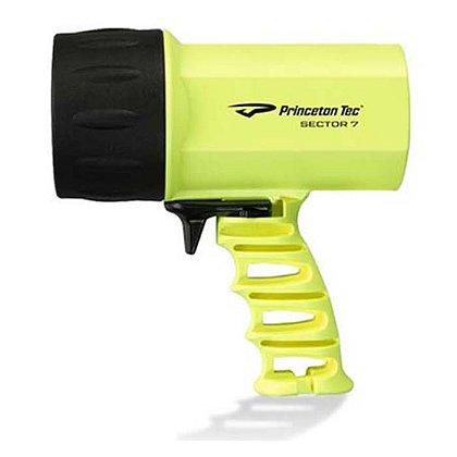 Princeton Tec Sector 7 Pistol Grip Spotlight, Neon Yellow