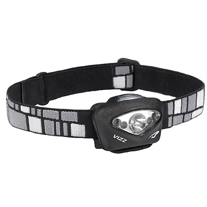 Princeton Tec VIZZ Professional Series Hybrid LED Headlamp, 3 AAA or Lithium Batteries, 150 Lumens, Rubber and Nylon Head Strap