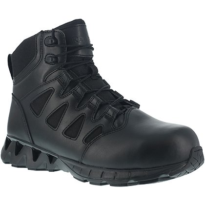 "Reebok: ZigKick Tactical 6"" Men's Boots with Side Zipper, Safety Toe"