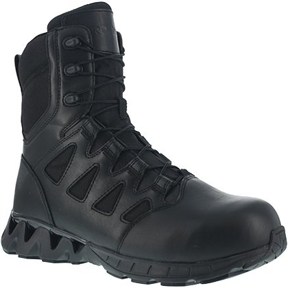 "Reebok: ZigKick Tactical 8"" Men's Boot with Side-Zip and Safety Toe"