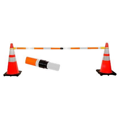 JBC Safety Plastics: Retractable Cone Bar, 6 to 10 ft