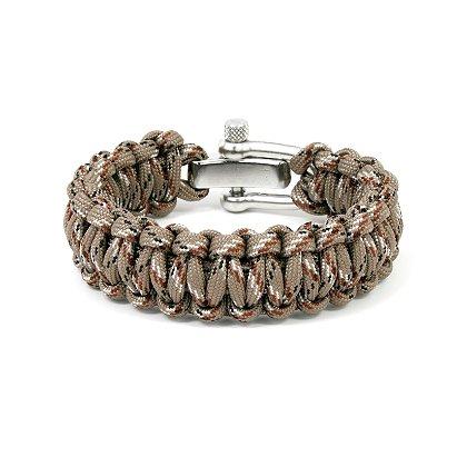 Survival Straps: Paracord Survival Bracelet, Desert Camo, 6.5inch