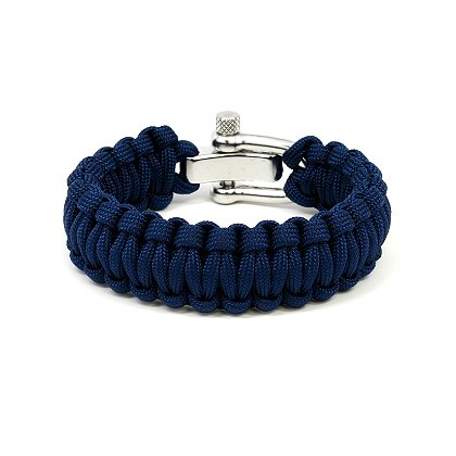 Survival Straps: Paracord Survival Bracelet, Navy, 9inch