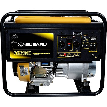 Subaru RGX4800 Industrial Generator, Recoil Start, 120/240V, 12V DC Charger, 6 Hour Run Time