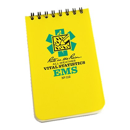 Rite in the Rain All-Weather Vital Stats EMS Notebook, Spiral Bound