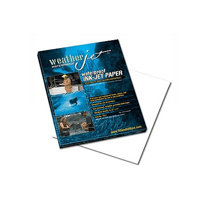 Rite in the Rain: Weatherjet Waterproof Ink-Jet Paper, 8-1/2 x 11