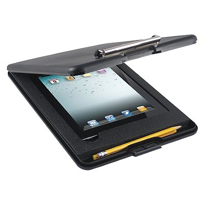 Saunders: Slimmate for iPad 2/3, Black polypropylene