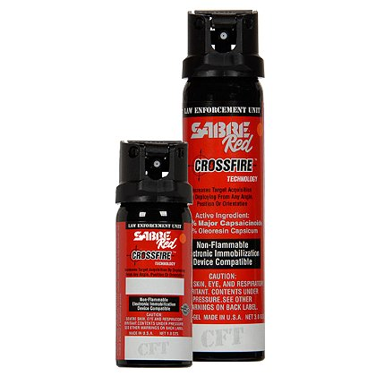 Sabre Red: Sabre Crossfire, Red Level III H2O Aerosol Irritant Projector, Gel