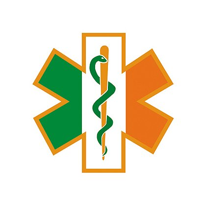 Decal: Irish Green, White and Orange Star of Life